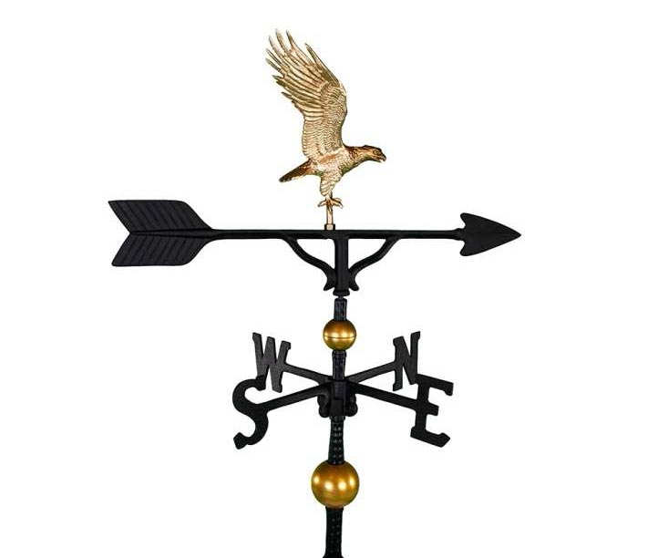 ALUMINUM BALD EAGLE WEATHERVANE (WV-302-GB)