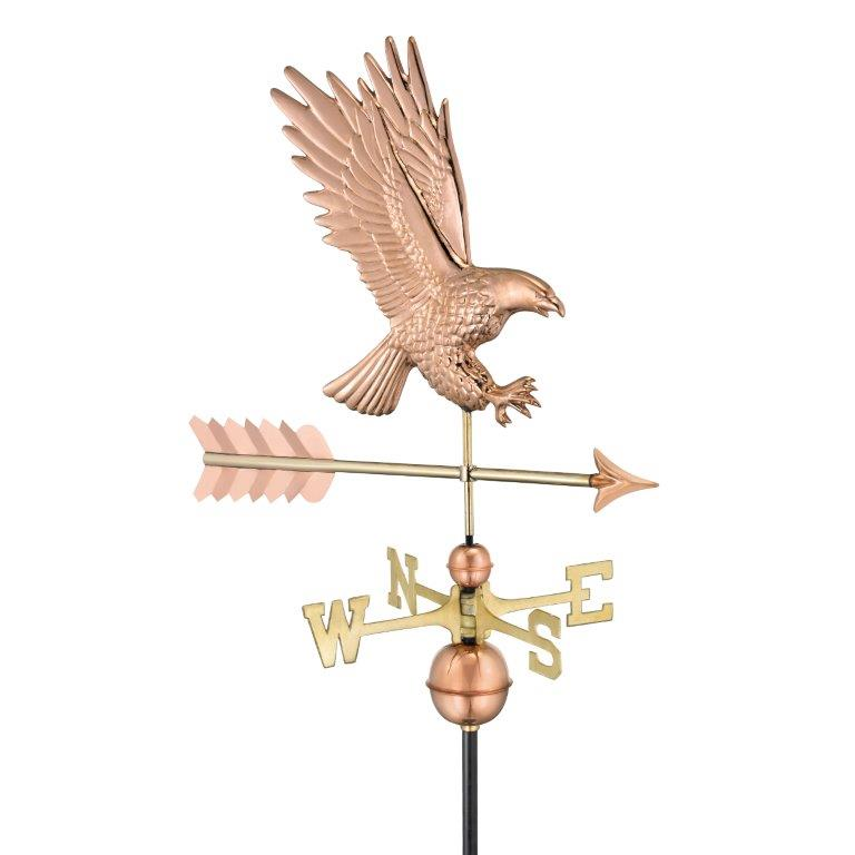 American Bald Eagle Weathervane - Polished Copper (1969P)