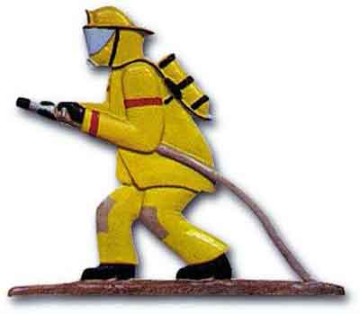aluminum fireman weathervane ornament