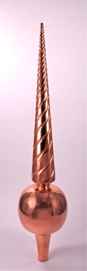 """dalvento """"venetian"""" finial - copper (mini)"""