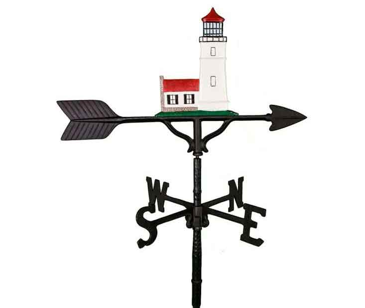 aluminum cottage lighthouse weathervane (wv-292-c)