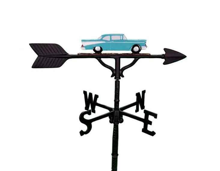 aluminum teal antique car weathervane (wv-213-tlc)