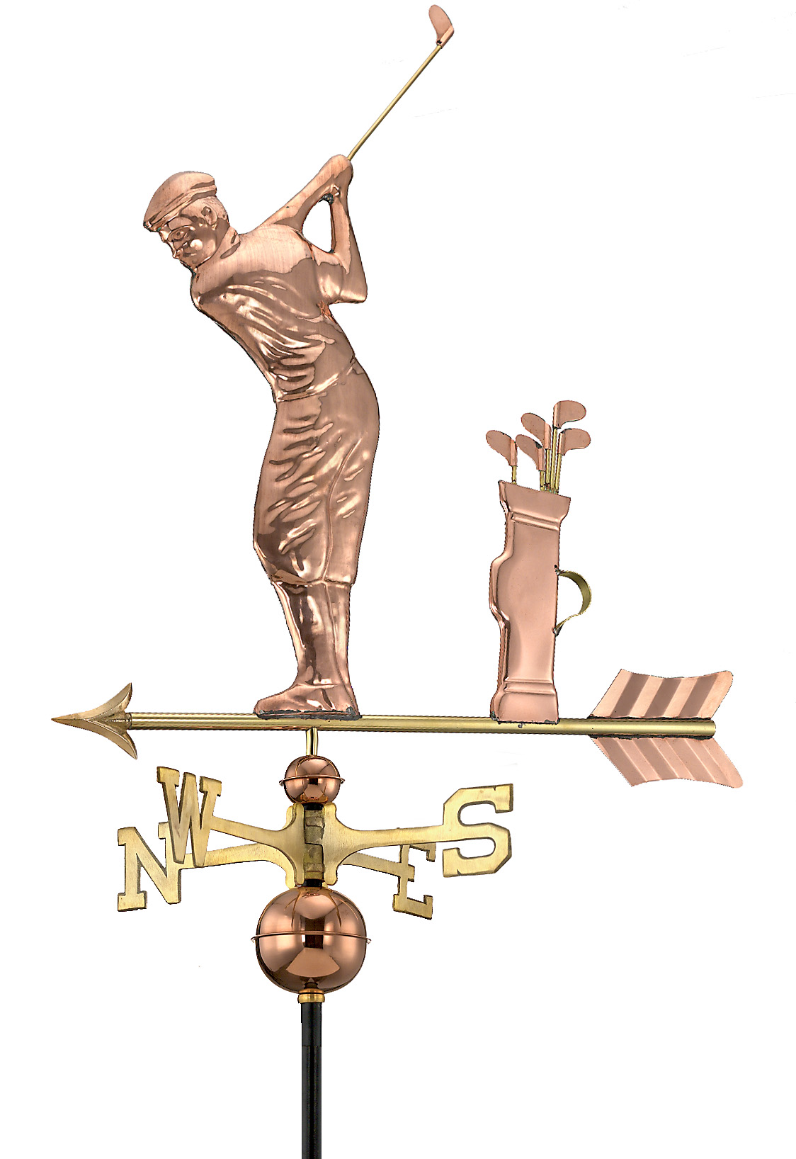 Golfer Weathervane - Polished Copper (561P)
