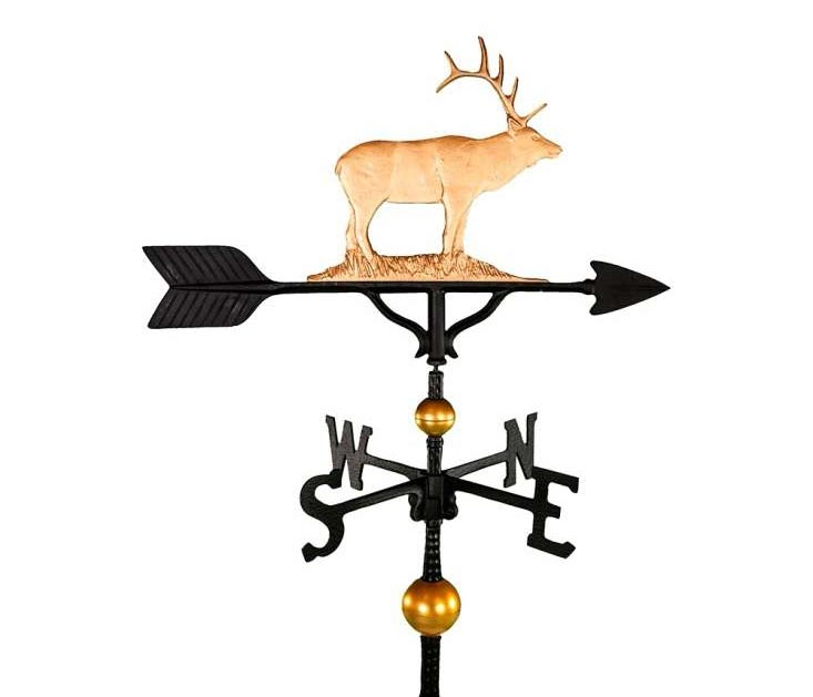 ALUMINUM ELK WEATHERVANE (WV-347-GB)