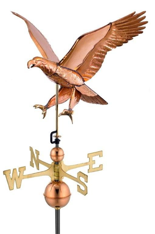 Attack Eagle -Weathervane - Polished Copper (659P)