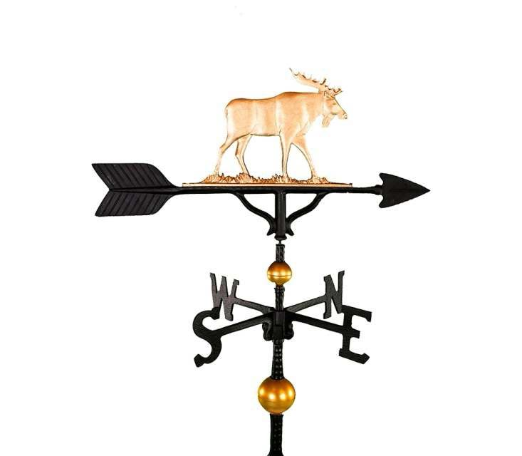 ALUMINUM MOOSE WEATHERVANE (WV-346-GB)