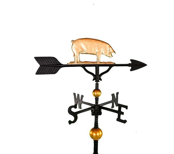 ALUMINUM PIG WEATHERVANE (WV-378-GB)