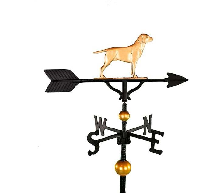 ALUMINUM RETRIEVER WEATHERVANE (WV-360-GB)