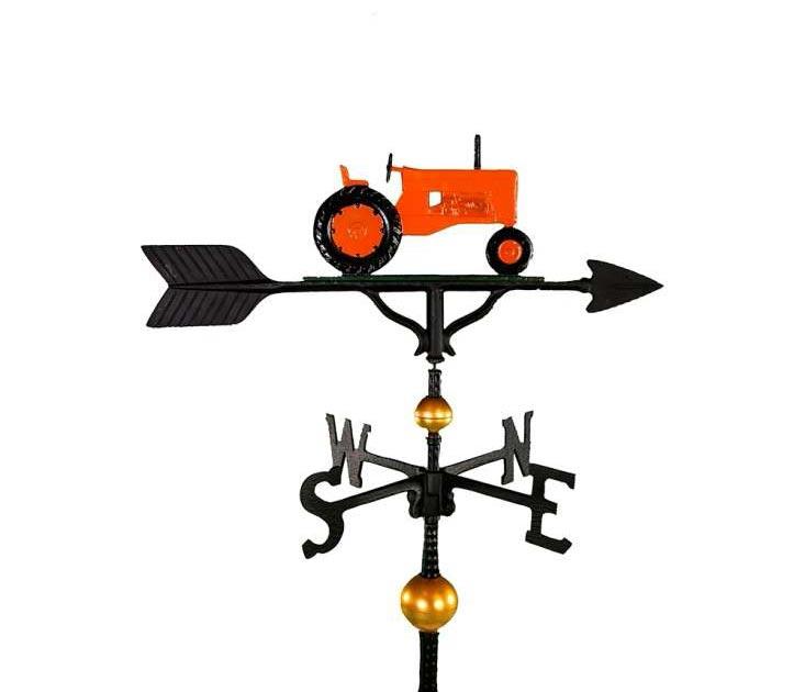 aluminum orange tractor weathervane