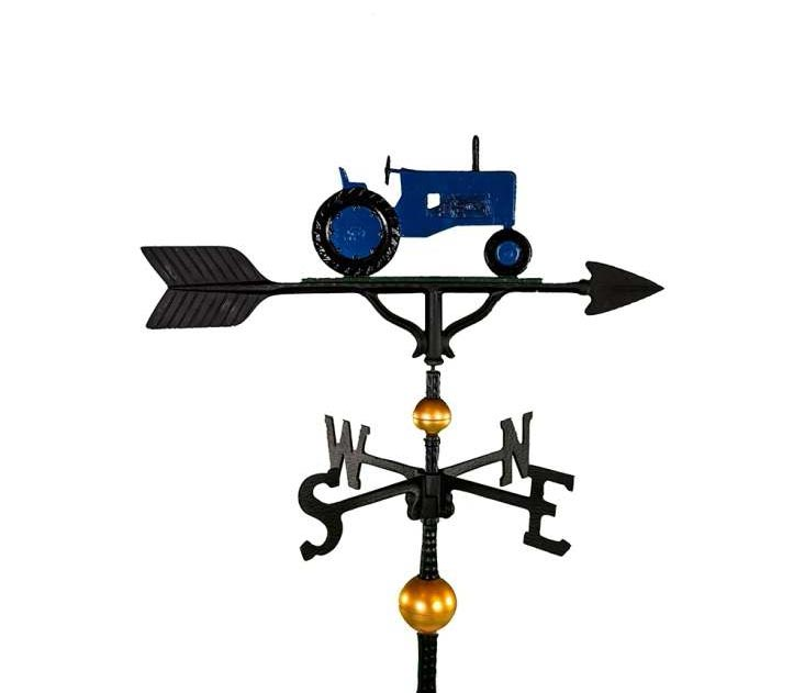 aluminum blue tractor weathervane