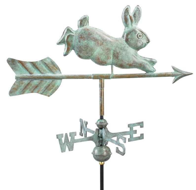 Rabbit Garden Weathervane - Blue Verde Copper (809V1)