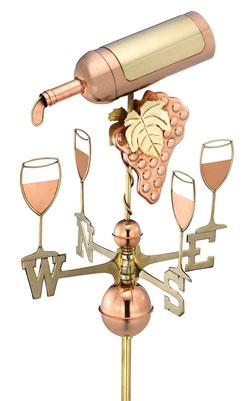 Wine Bottle Weathervane - Polished Copper (917P)
