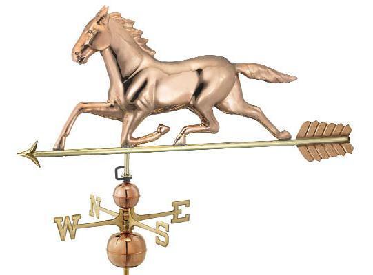 polished copper large horse estate weathervane