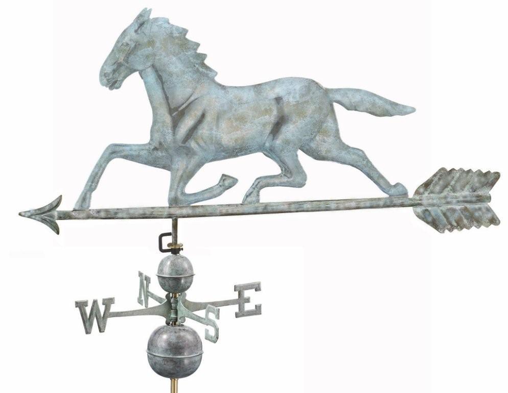 Large Horse Estate Weathervane - Blue Verde (958V1)