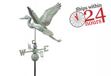 Blue Heron Weathervane - Blue Verde Copper (9606V1)