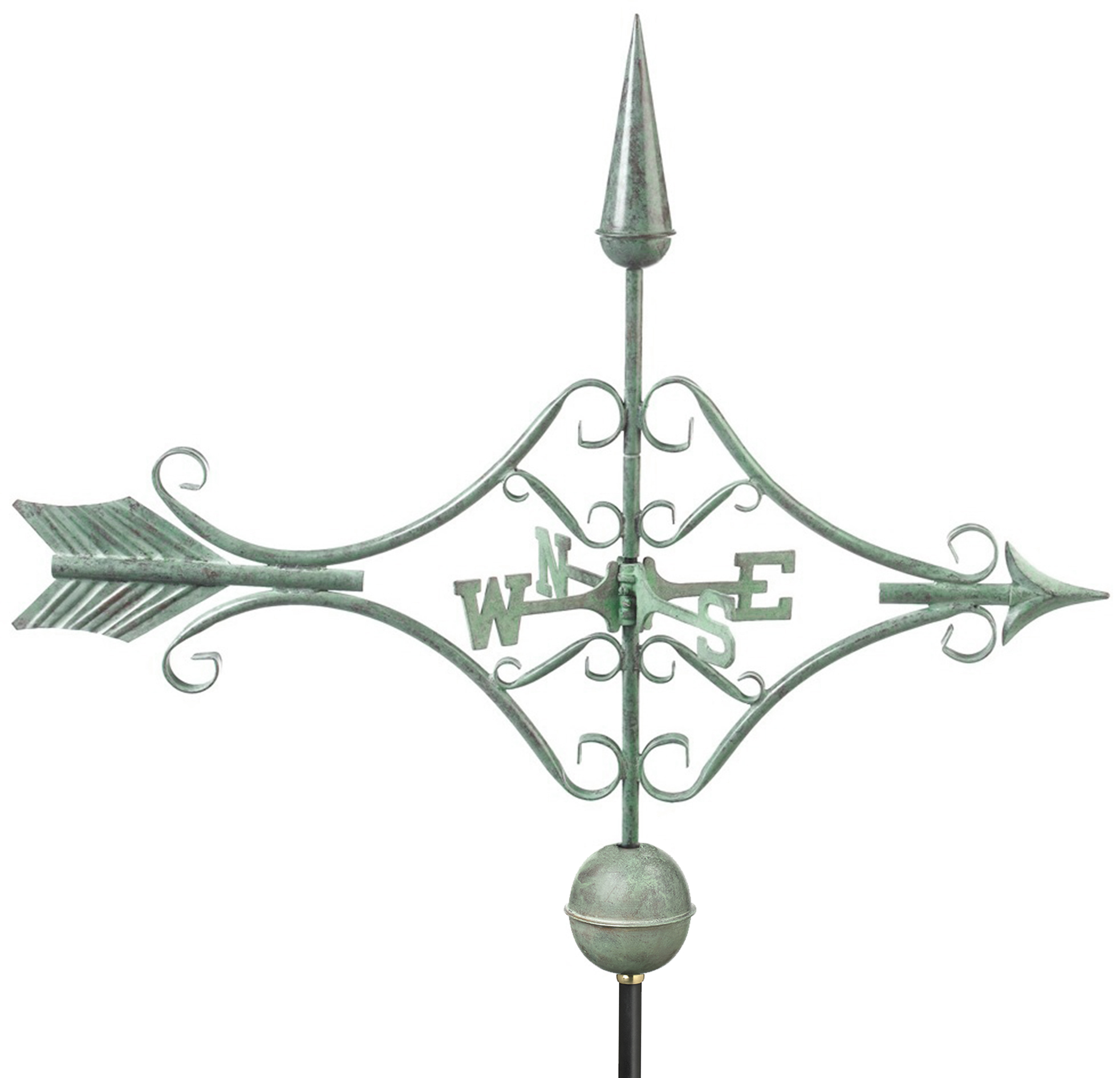 Victorian Arrow Weathervane - Blue Verde Copper (9642V1)
