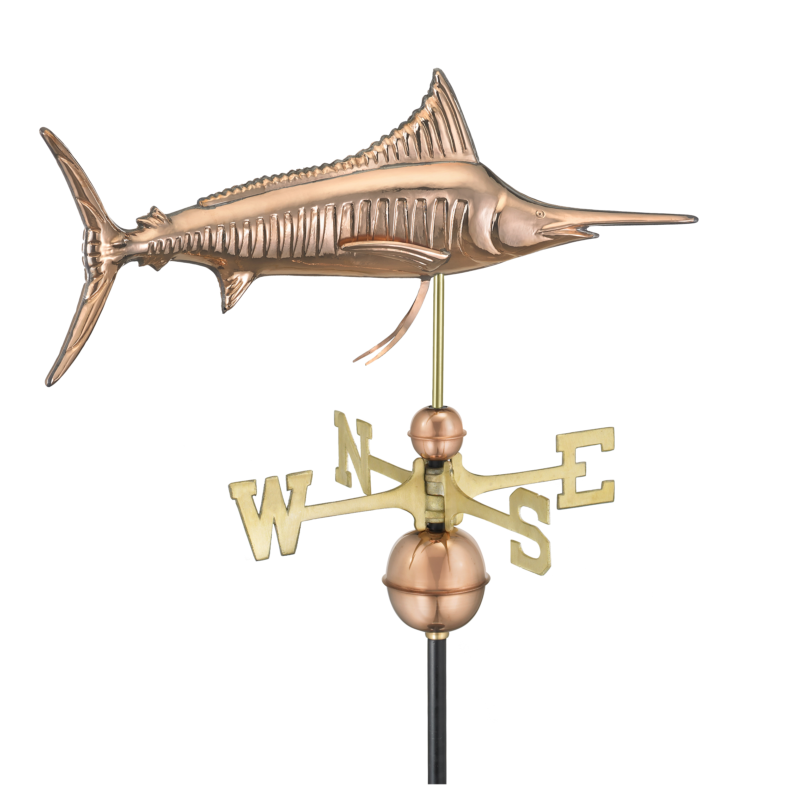 Marlin Weathervane - Polished Copper (969P)