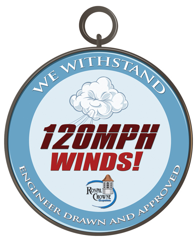 we withstand 120mph wind logo