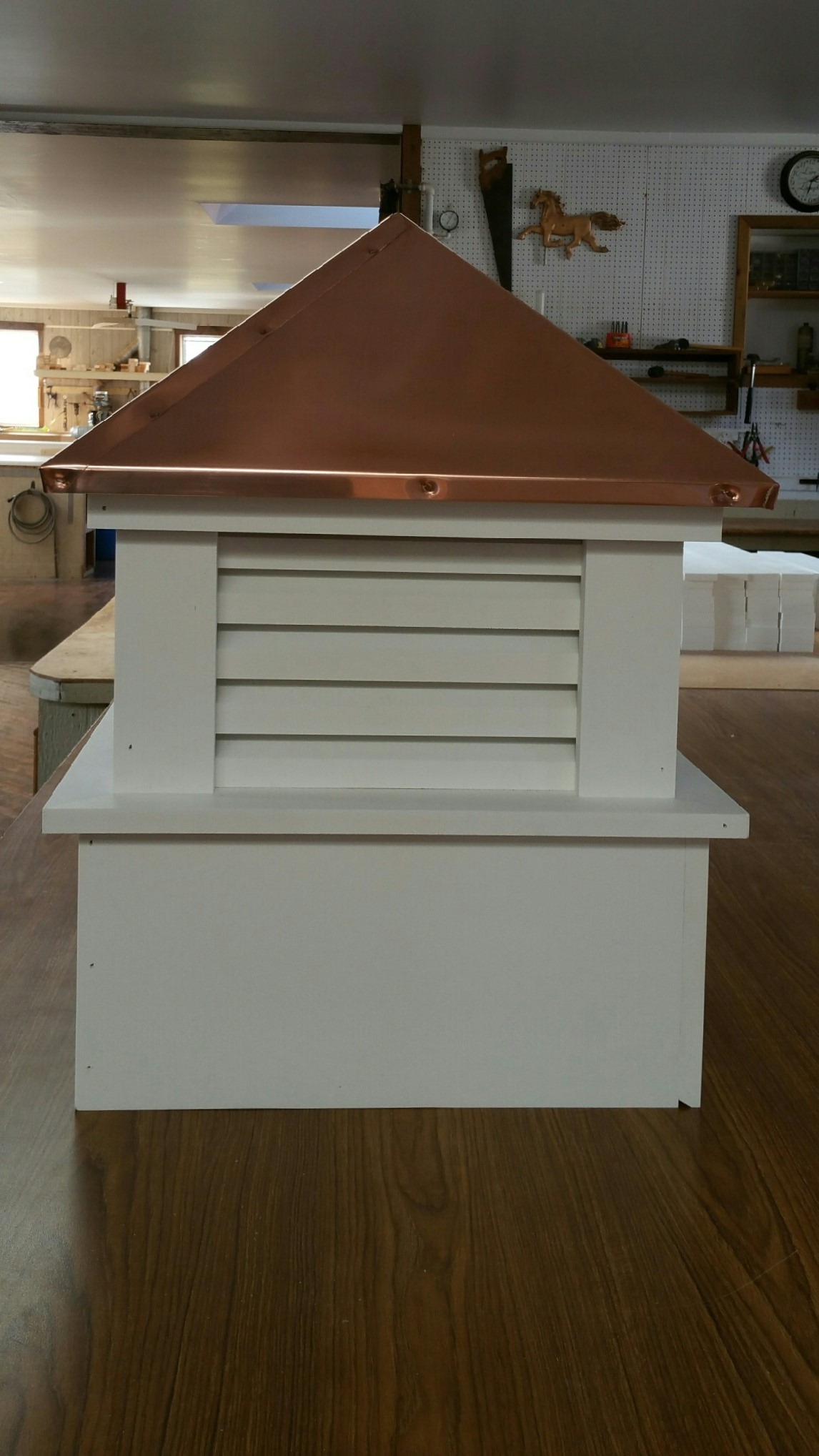 our square economy shed cupola (MES4)