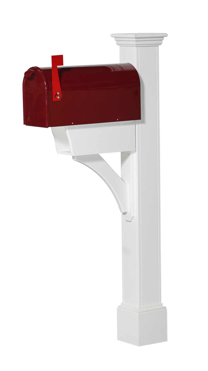 HARTFORD PLUS VINYL MAILBOX POST (MPHP)