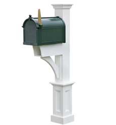 madison vinyl plus mailbox post