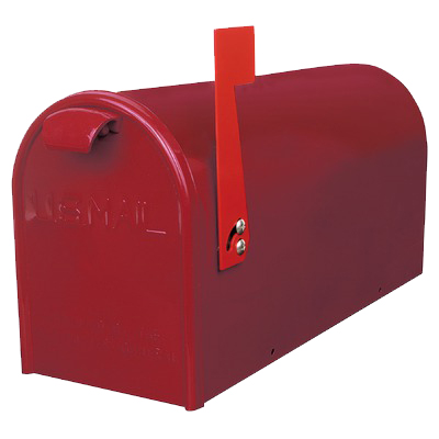 NEWPORT METAL MAILBOX RED (MBN-RD)