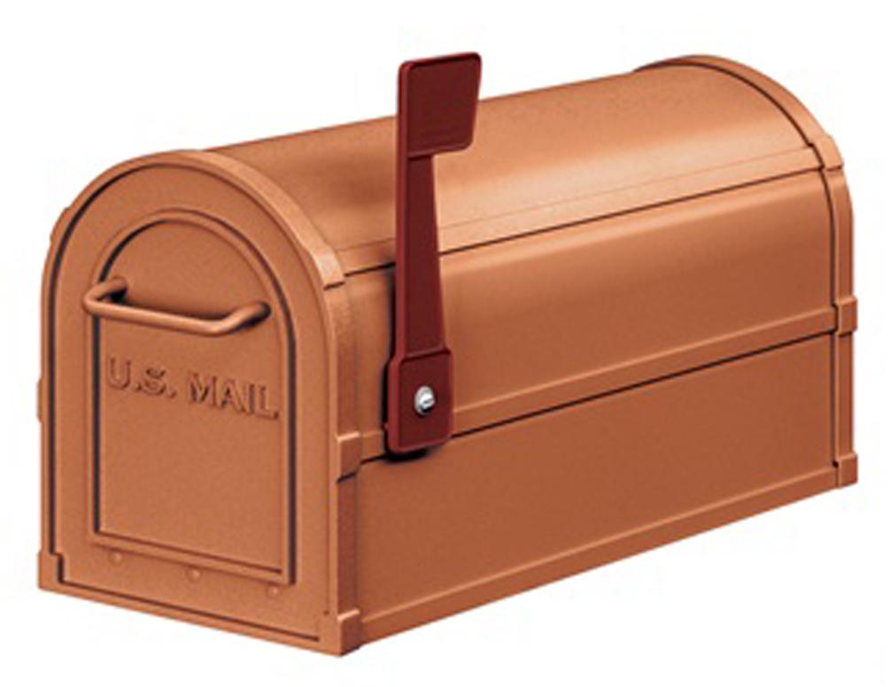 rural aluminum mailbox copper