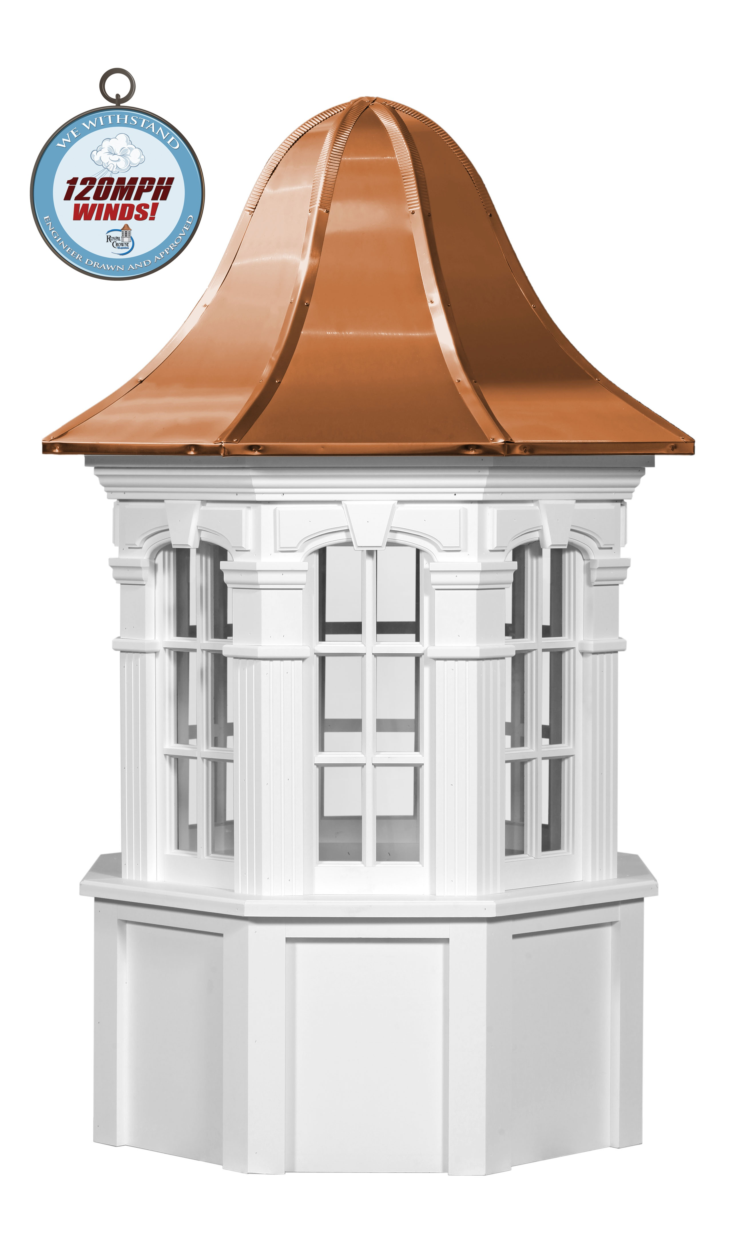 yarmouth cupola with we withstand 120mph winds logo