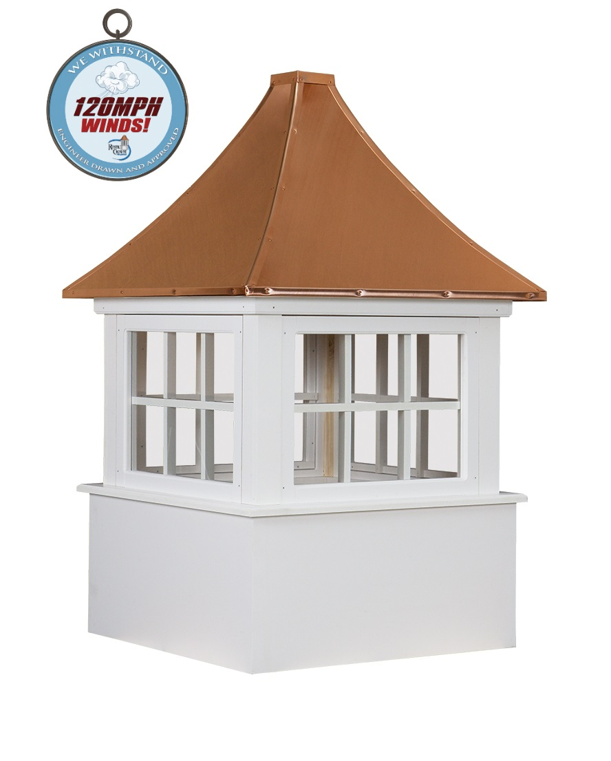 carlisle cupola with we withstand 120mph winds logo