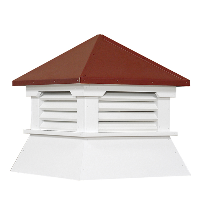 aluminum shed cupola with red roof