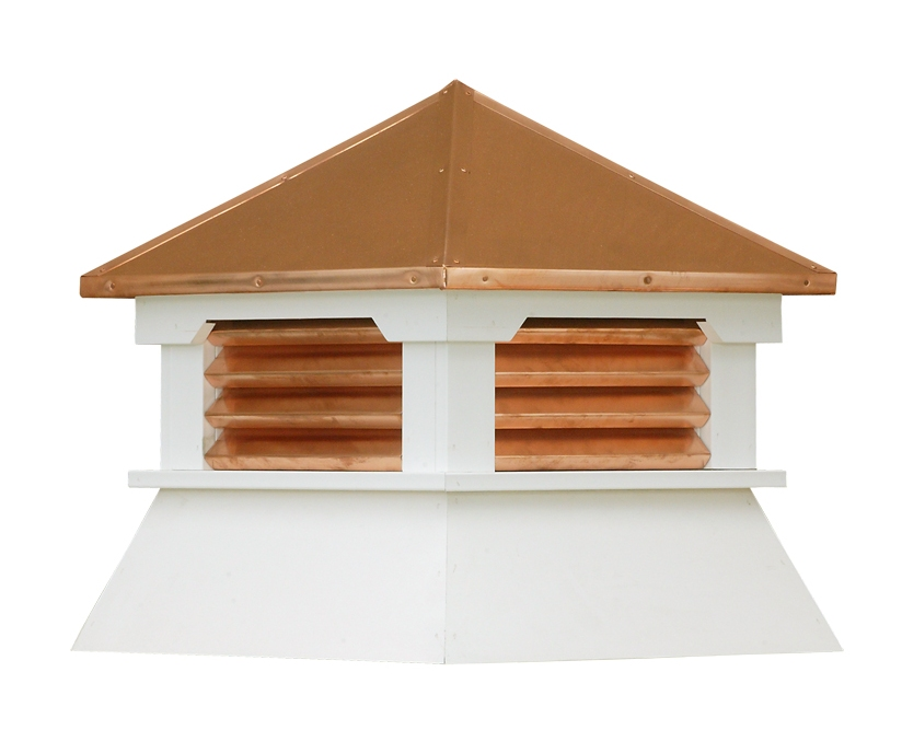 COPPER SHED CUPOLAS WITH WRAPPED LOUVERS (S8VC-CL)
